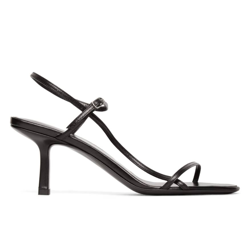 The Row  Black Bare 65MM Heeled Sandals