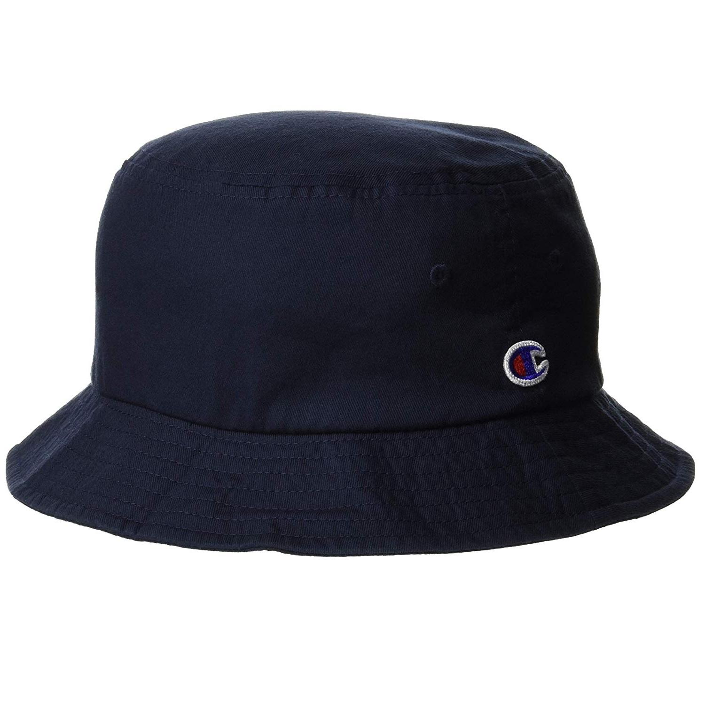 新低价!Champion 日版潮流logo渔夫帽 深蓝色