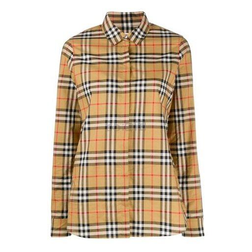 BURBERRY 女士经典格纹衬衫 ¥2,459 - 海淘优惠海淘折扣|55海淘网