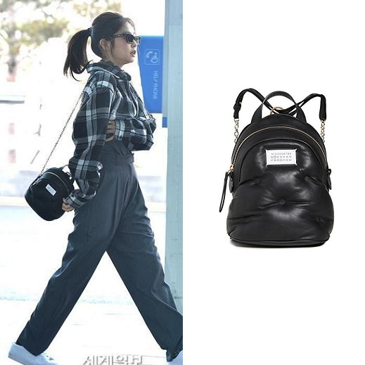 Jennie 同款 Maison Margiela Mini 黑色背包