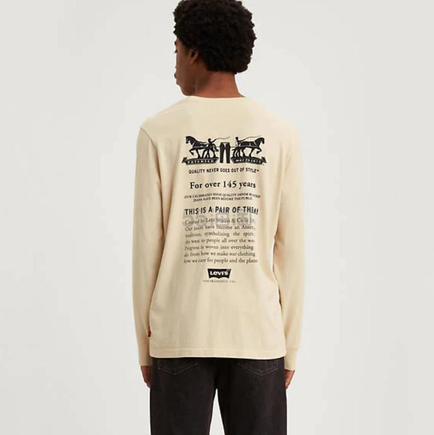 Levis 男士背后印花长袖 T 恤 .99(约62元) - 海淘优惠海淘折扣|55海淘网