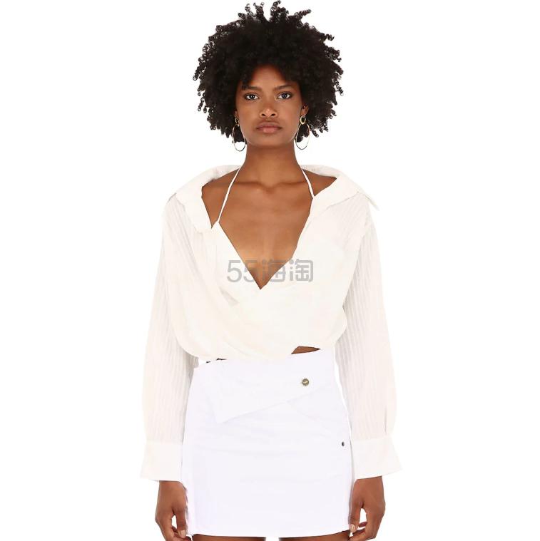 Jacquemus 纯棉混纺交叉设计衬衫 1(约2,215元) - 海淘优惠海淘折扣|55海淘网