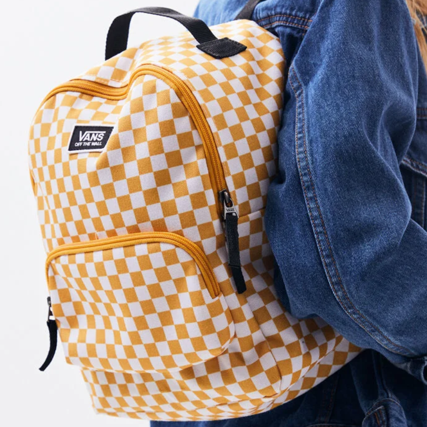 Vans 万斯 Yellow Checkered 格纹双肩包