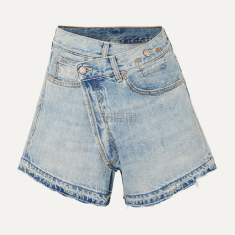 R13 牛仔围裹效果短裤 2.5(约1,260元) - 海淘优惠海淘折扣|55海淘网