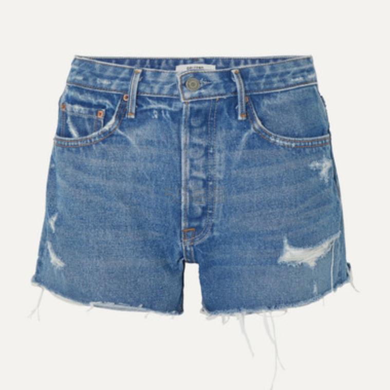 GRLFRND Helena 仿旧牛仔短裤 .48(约611元) - 海淘优惠海淘折扣|55海淘网