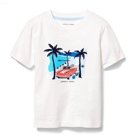Janie and Jack 童款白色T恤衫 .59(约94元) - 海淘优惠海淘折扣|55海淘网