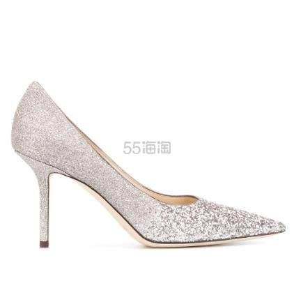JIMMY CHOO Love 85金葱镶嵌高跟鞋 ¥4,666.5 - 海淘优惠海淘折扣 55海淘网