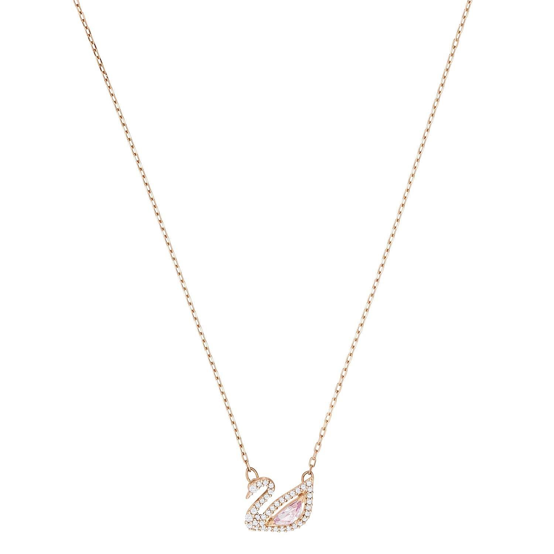 新低!Swarovski 施华洛世奇 胭脂粉色浪漫天鹅水晶项链