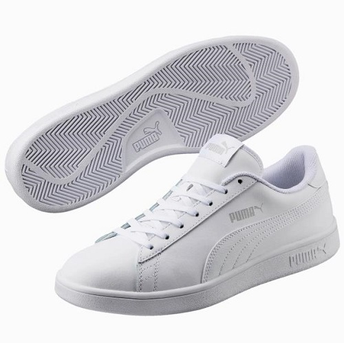 Puma 彪马 Smash v2 Leather 男子小白鞋