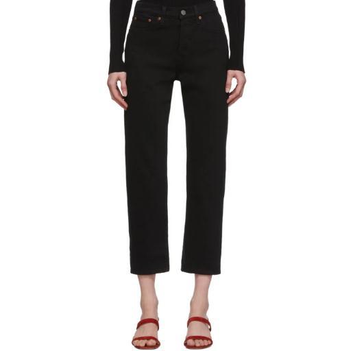 Levi's Wedgie 黑色直筒牛仔裤
