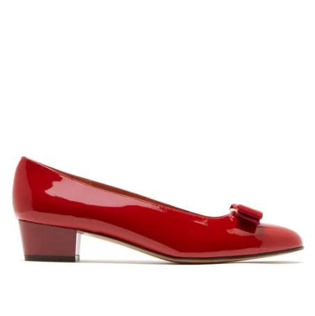 SALVATORE FERRAGAMO Vara 红色经典漆皮高跟鞋
