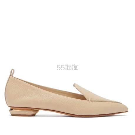 NICHOLAS KIRKWOOD Beya 裸色尖头乐福鞋 €272(约2,150元) - 海淘优惠海淘折扣|55海淘网