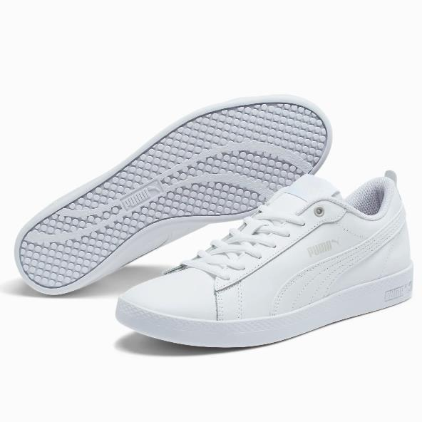 Puma 彪马 Smash v2 Leather 女子小白鞋