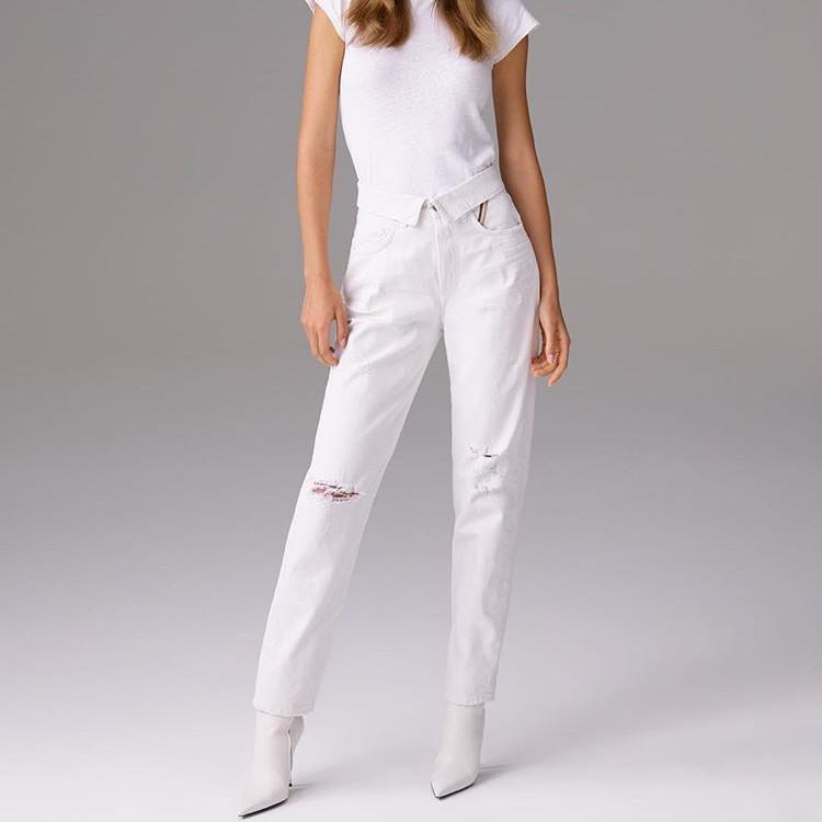 Jean Atelier 高腰直筒纯棉牛仔裤