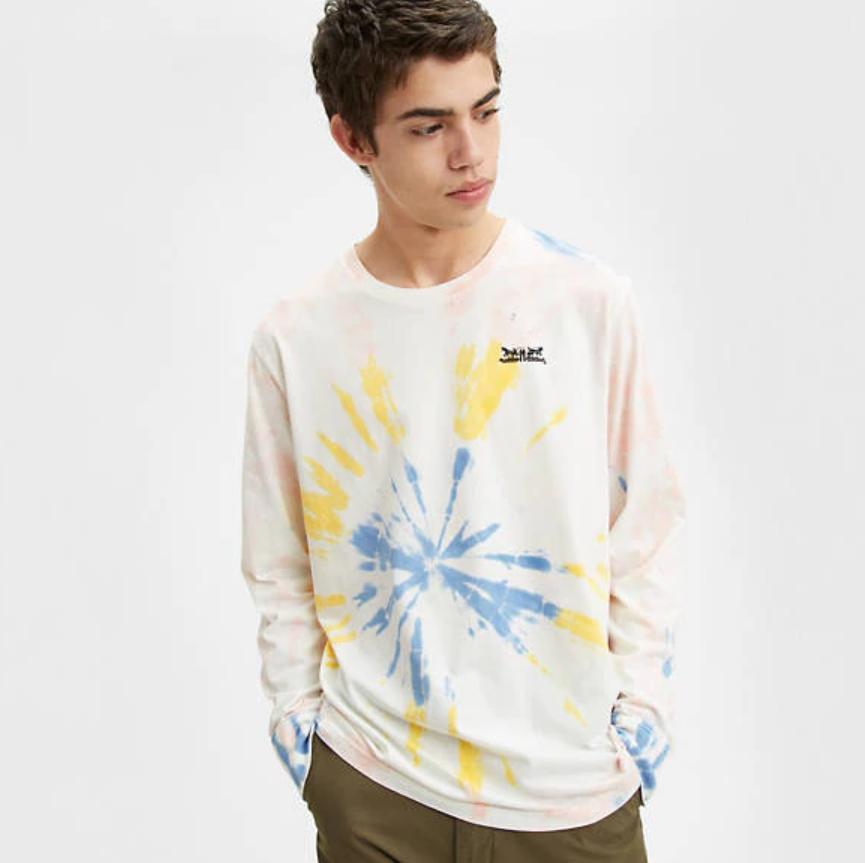 Levi's 男士扎染长袖 T 恤