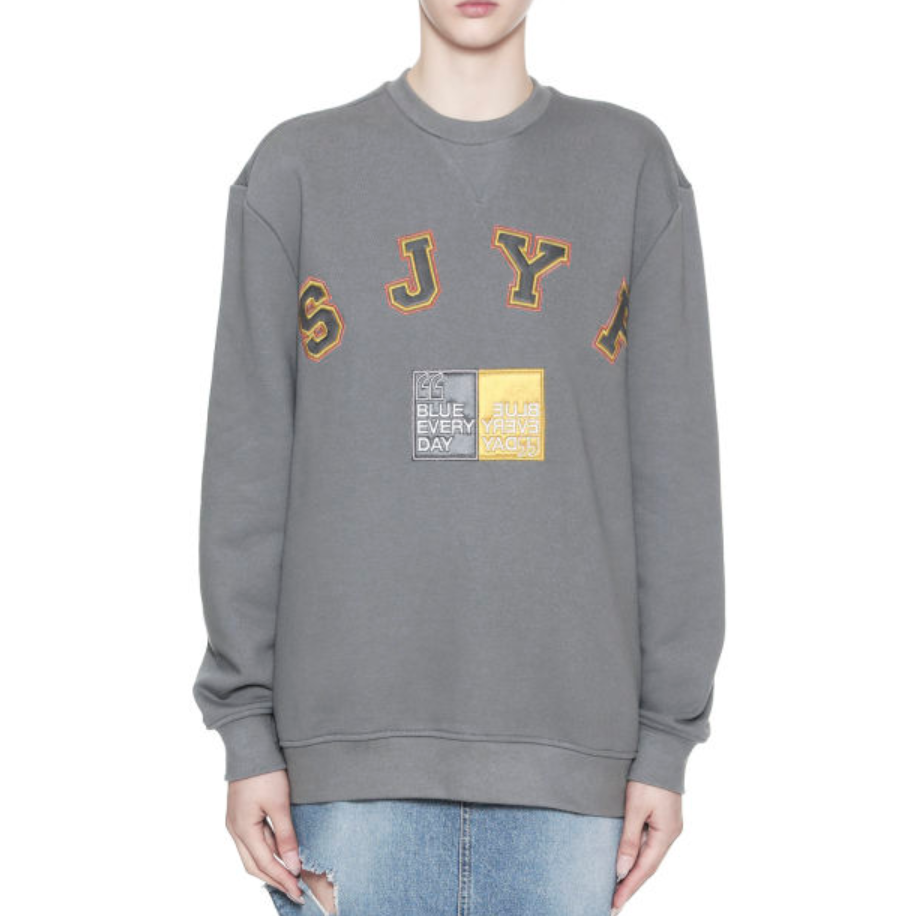 SJYP Logo 缝饰圆领卫衣