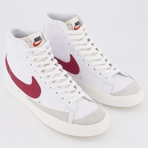 Nike 耐克 Blazer Mid 77 酒红白色运动鞋