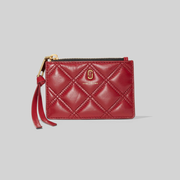Marc Jacobs 小马哥 The Quilted Softshot 绗缝纹拉链零钱包