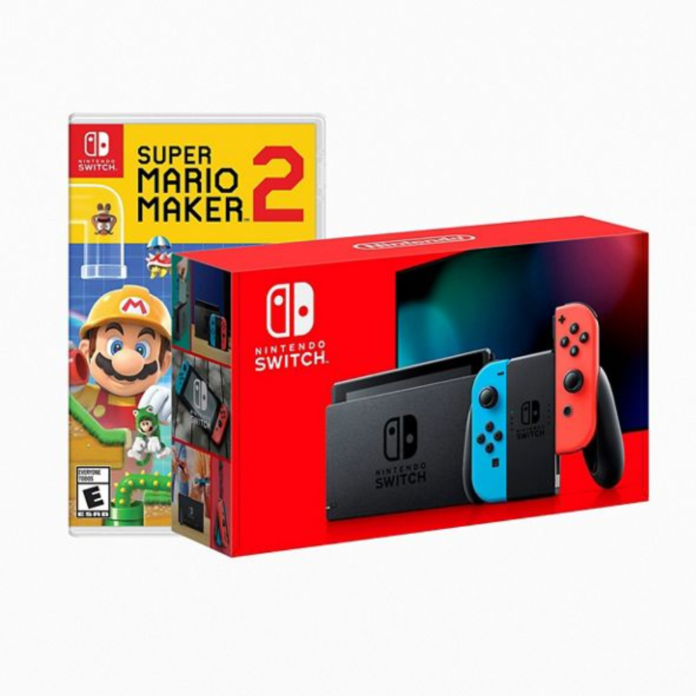 Nintendo 任天堂 Switch Console And Super Mario Maker 2 马里奥制造2套装