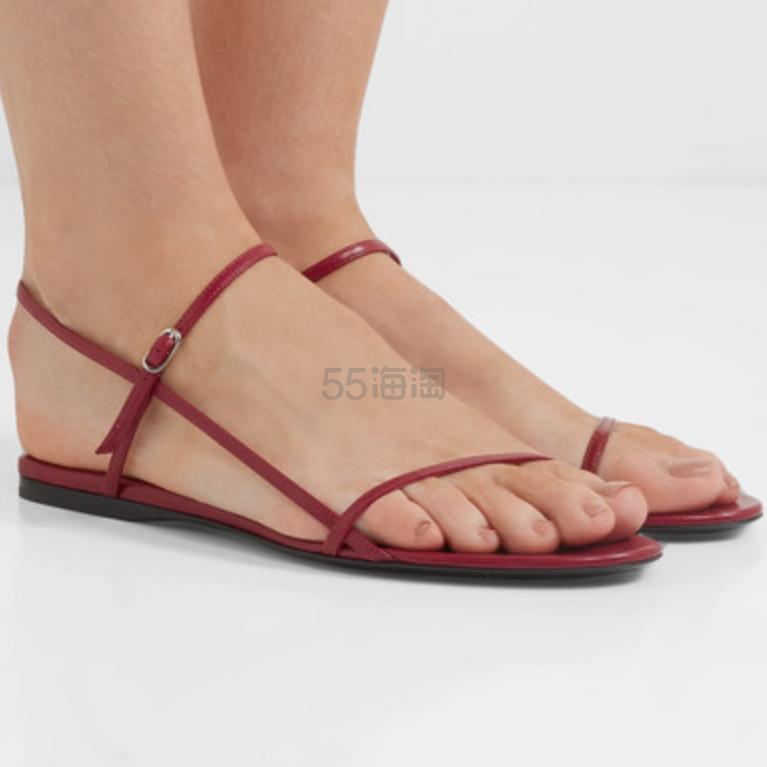 The Row Bare 皮革凉鞋 4(约2,106元) - 海淘优惠海淘折扣|55海淘网