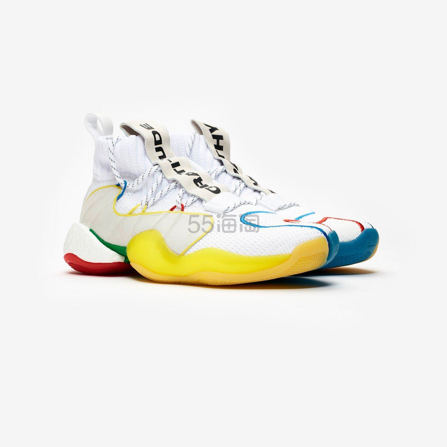 adidas by Pharrell Williams Crazy BYW LVL X PW 男士篮球鞋 4.5(约863元) - 海淘优惠海淘折扣 55海淘网