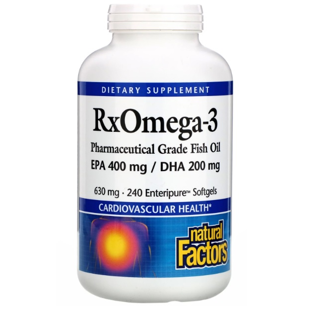Natural Factors Rx Omega-3 欧米伽3 630mg 240粒
