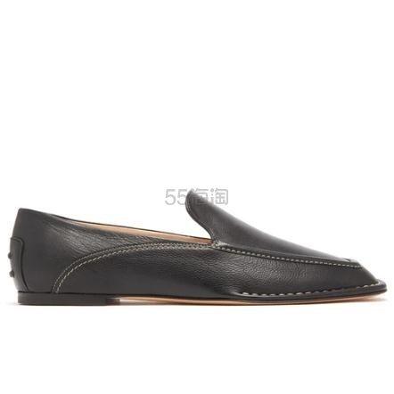 TODS Square-toe 方头乐福鞋 €372.3(约2,828元) - 海淘优惠海淘折扣|55海淘网