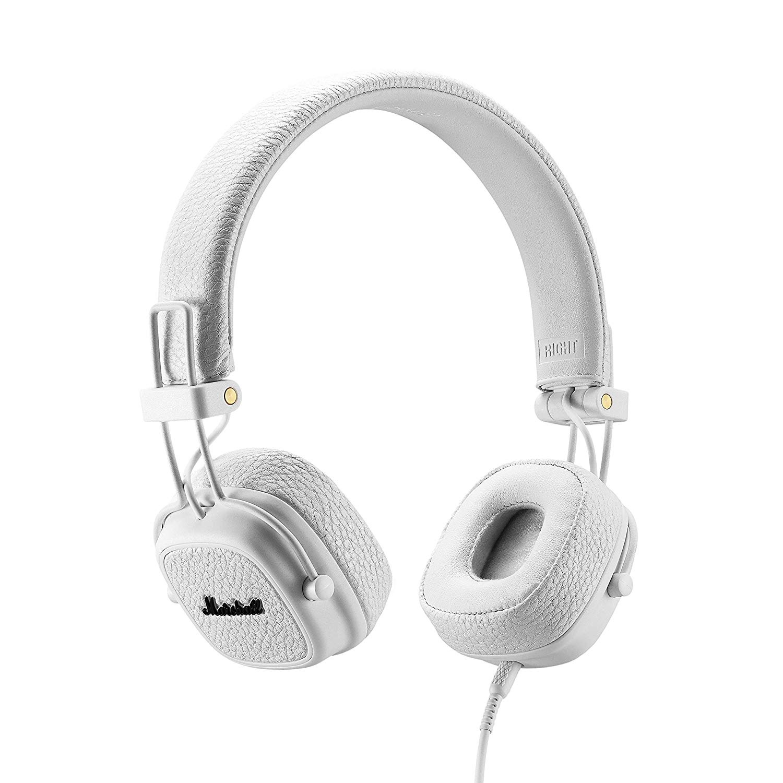 Marshall 马歇尔 Major III 白色头戴式摇滚重低音监听有线耳机
