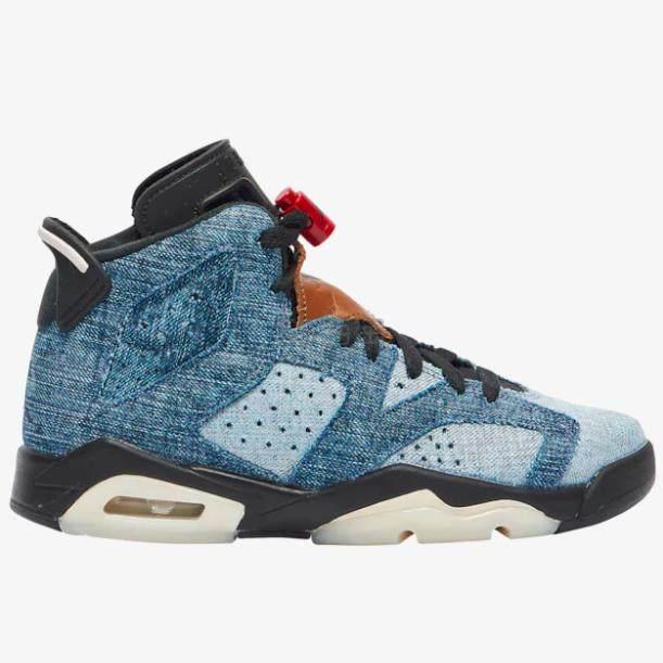 Air Jordan 乔丹 Retro 6 大童款篮球鞋 水洗丹宁