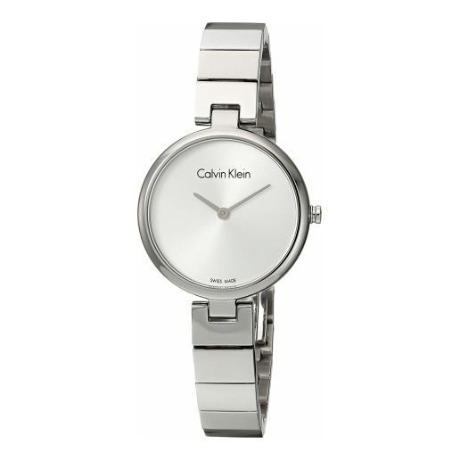 Calvin Klein 卡尔文·克莱因 Authentic 系列 银色女士时装腕表 K8G23146