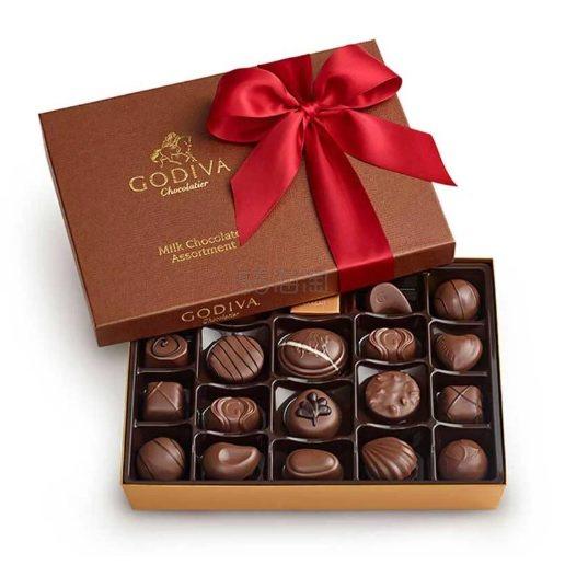 Godiva 歌帝梵 牛奶巧克力礼盒 22颗 .96(约194元) - 海淘优惠海淘折扣|55海淘网