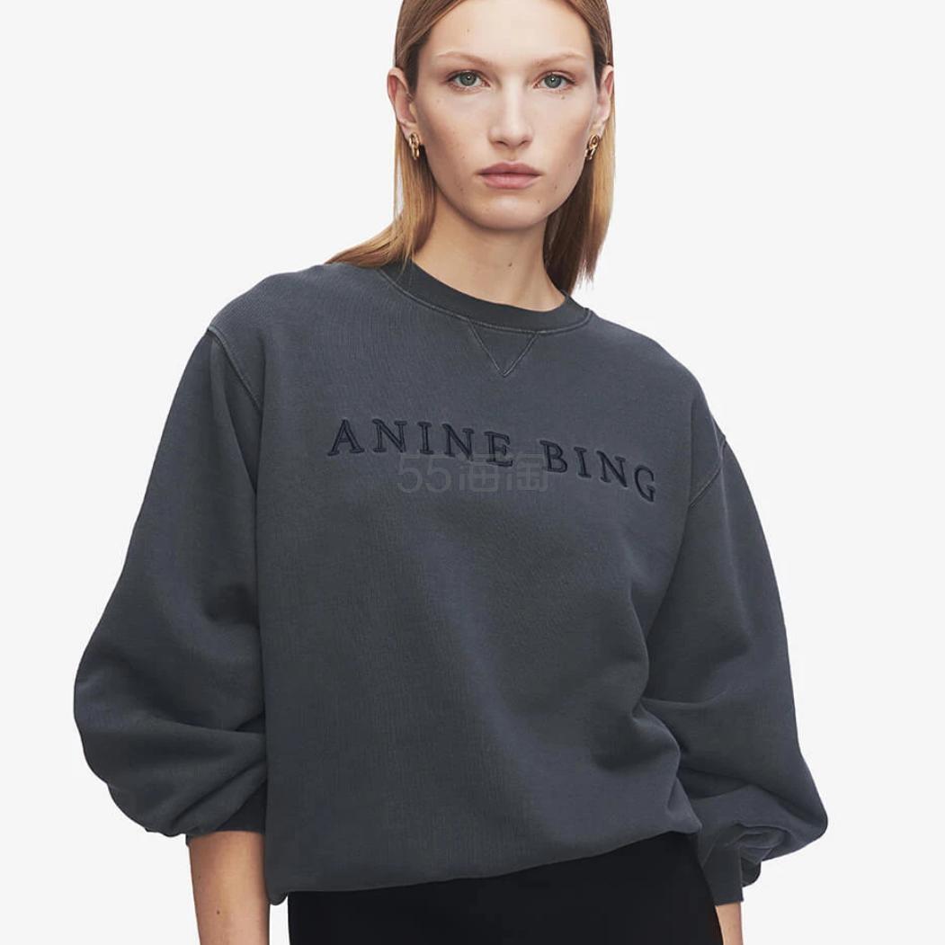ANINE BING 炭黑色基础款卫衣 9(约1,176元) - 海淘优惠海淘折扣 55海淘网