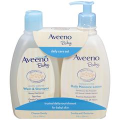 【中亚Prime会员】Aveeno 艾维诺 宝宝洗发沐浴二合一 354ml+保湿滋润乳液 354ml