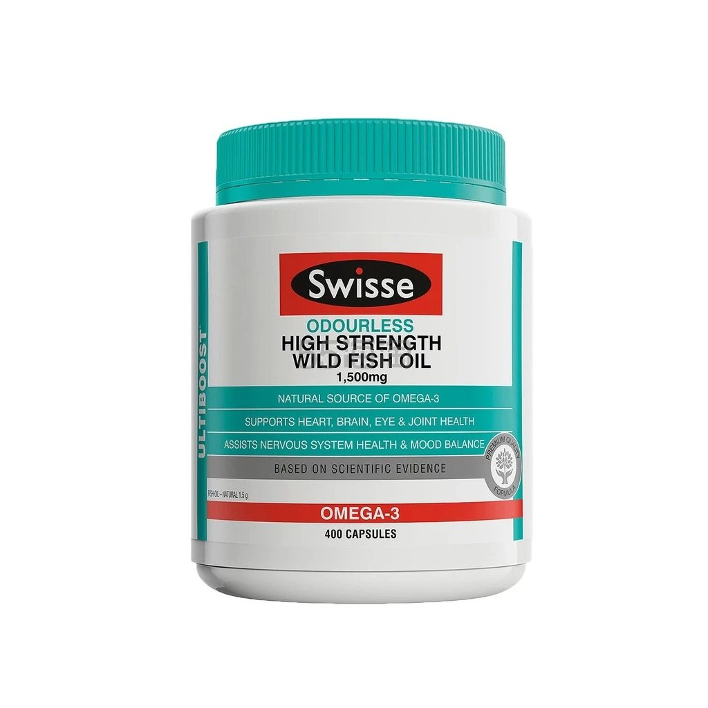 【最高满减10澳】Swisse 野生深海鱼油胶囊 1500mg 400粒 无腥味