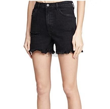 J Brand Jules 高腰黑色牛仔短裤