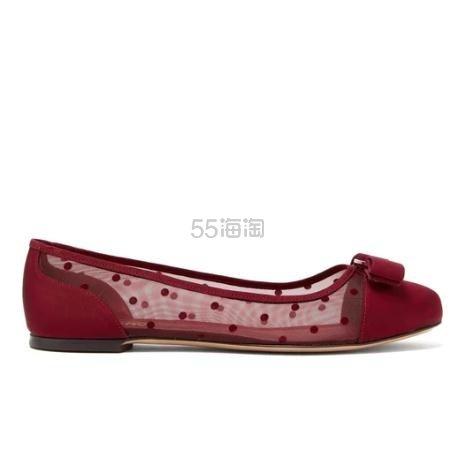 SALVATORE FERRAGAMO Varina 波点平底鞋 €355.3(约2,701元) - 海淘优惠海淘折扣 55海淘网