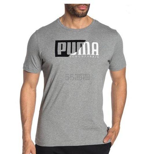 PUMA Flock Graphic 男士灰色T恤衫