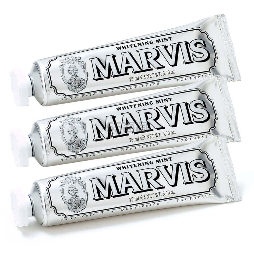 Marvis 美白薄荷牙膏 85ml*3支装 £15.75(约143元) - 海淘优惠海淘折扣|55海淘网