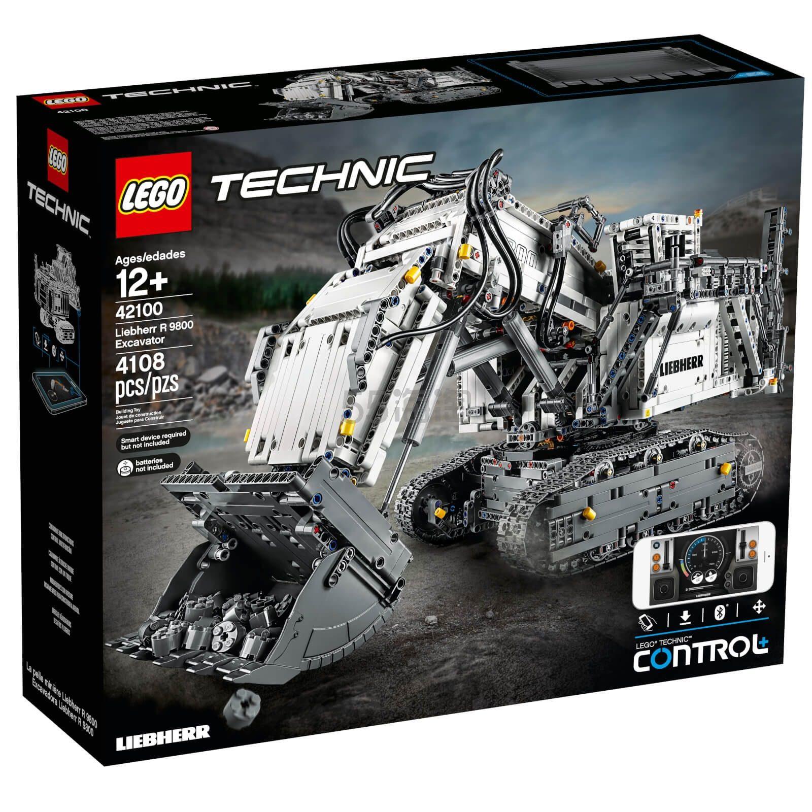 LEGO 乐高 科技系列 利勃海尔 R9800 遥控挖掘机 (42100)