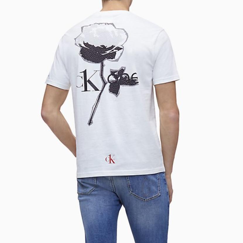 Calvin Klein 新款男士印花短袖 T 恤