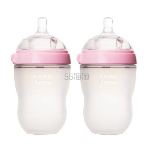 Comotomo 可么多么 粉色婴儿硅胶奶瓶 250ml 2只装 .99(约132元) - 海淘优惠海淘折扣|55海淘网