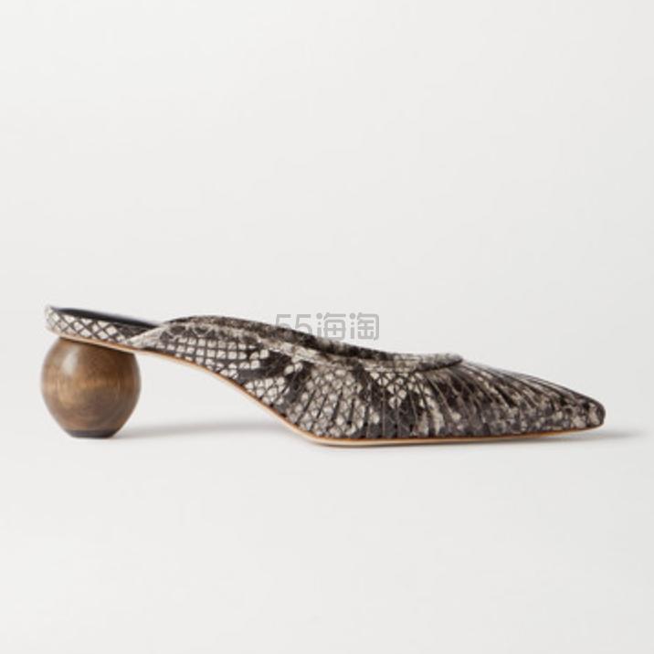 Cult Gaia Alia 蛇纹皮革穆勒鞋 £295(约2,686元) - 海淘优惠海淘折扣|55海淘网