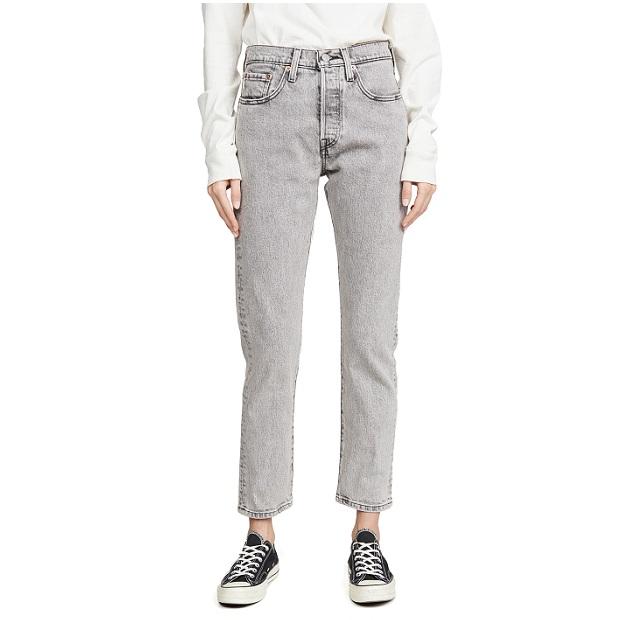 Levi's 501 Skinny 经典款灰色牛仔裤