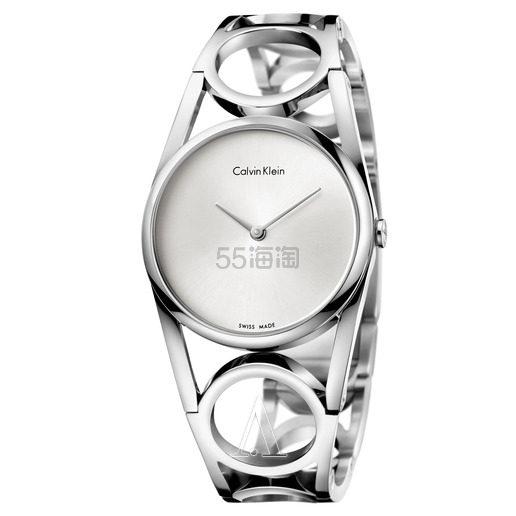Calvin Klein 卡尔文·克莱因 Round 系列 银色女士时装腕表 K5U2S146 .99(约278元) - 海淘优惠海淘折扣|55海淘网