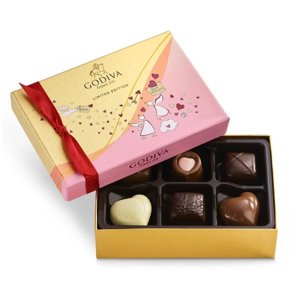 Godiva 歌帝梵 情人节巧克力什锦礼盒 6颗