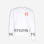 A BATHING APE Lettered 宽松平纹针织棉卫衣