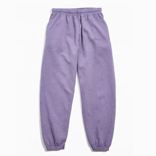 iets frans… Embroidered 紫色慢跑裤