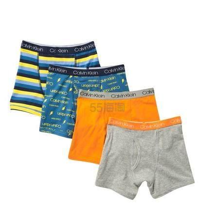 Calvin Klein Cotton Boxer Briefs 4条装童款短裤 .97(约104元) - 海淘优惠海淘折扣 55海淘网