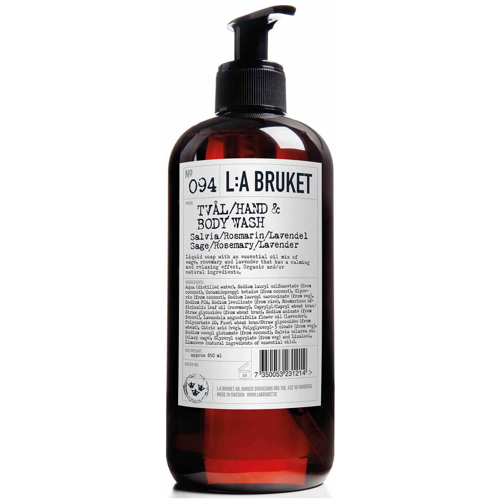L:A BRUKET No. 094 鼠尾草迷迭香薰衣草 洗手液/沐浴露两用 450ml