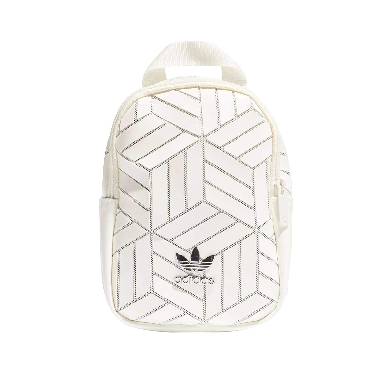 Adidas 阿迪达斯 3D Geometric 三宅一生联名款mini斜挎包双肩包 白色